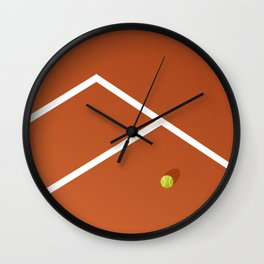 Tennis Court: France Wall Clock