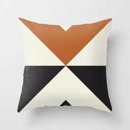 Split X Rust Throw Pillow