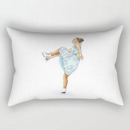 Figure Skating Heel Grab Rectangular Pillow