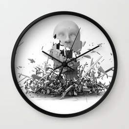 Falling Apart Wall Clock