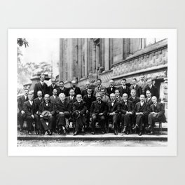 World-Renowned Physicists of 1927 at Solvay Conference Art Print