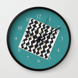 Atomic Rickrack Wall Clock