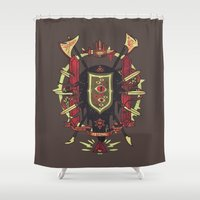 lovecraft Shower Curtains featuring Astral Ancestry by Hector Mansilla