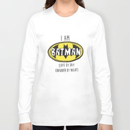 I Am Cute By Day Crusader By Night son T-Shirts Long Sleeve T-shirt