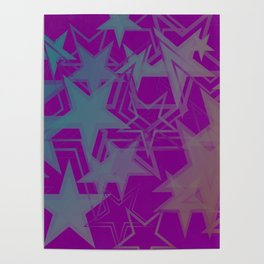 Vector dark purple metallic background in blue stars. For registration of paper or banners. Poster