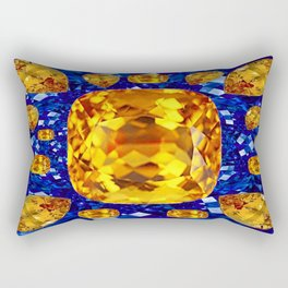 October Topaz & Blue Sapphire September Birthstone Gems Rectangular Pillow