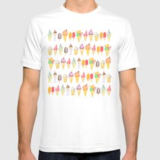Watercolour Ice Cream Mens Fitted Tee White MEDIUM
