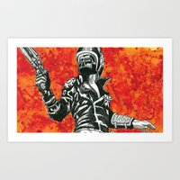 mad max Art Prints featuring Mad Max  by Abominable Ink by Fazooli