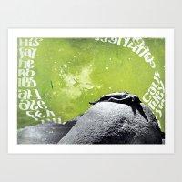 Birdland - green Art Print