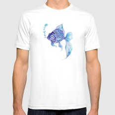 Baby Blue #5 White Mens Fitted Tee MEDIUM