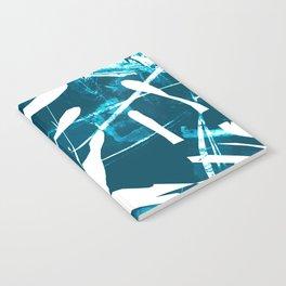 Monstera Leaf Blue Notebook