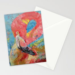 Pink Flamingo Stationery Cards