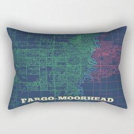 Fargo-Moorhead Street Map Rectangular Pillow