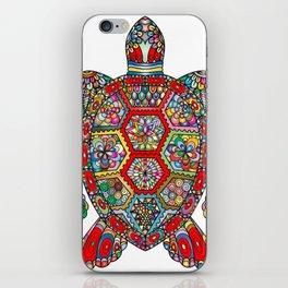 Colorful Sea Turtle Abstract Mandala iPhone Skin