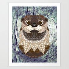 Ornate Otter Art Print