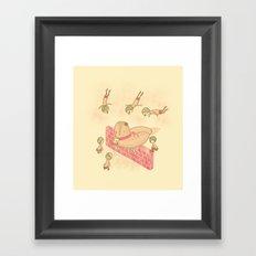 Bird food Framed Art Print