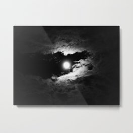 the moon after the storm Metal Print