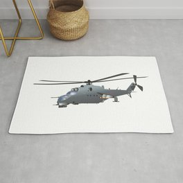 Russian Attack Helicopter Mi-24 Rug