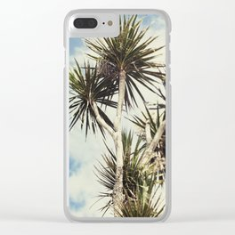 Tilt and Shift Penzance Palm tree Clear iPhone Case