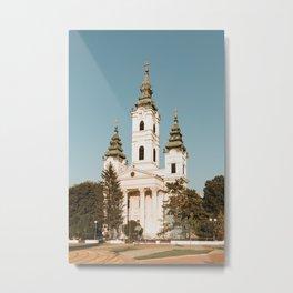Orthodox church in Becej, Serbia Metal Print
