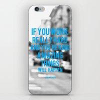 work hard iPhone & iPod Skins featuring Work Hard by ElloGovna