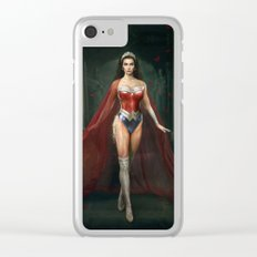 Wonder . Woman Clear iPhone Case
