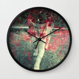 Evil cat Wall Clock