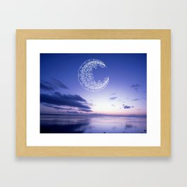 Bohemian Moon Framed Art Print