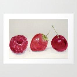Luscious Red Fruit Art Print