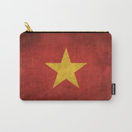 Old and Worn Distressed Vintage Flag of Vietnam Carry-All Pouch