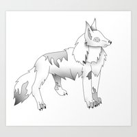 Full Colored Wolf Art Print