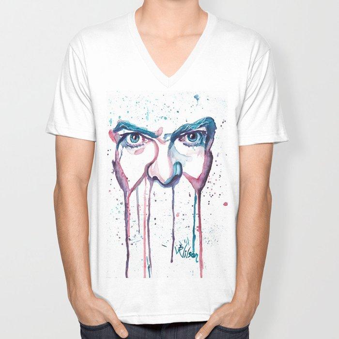 Bowie Watercolor  Unisex V-Neck