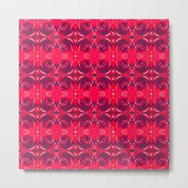 Red Rose Pattern 665 Metal Print