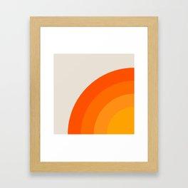 Sunrise Rainbow - Left Side Framed Art Print
