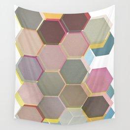 Layered Honeycomb Wall Tapestry