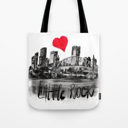 I love Little Rock Tote Bag