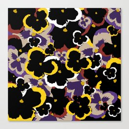 Pansy Love Canvas Print