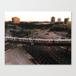 L Train Passing Through Chicago's West Side Canvas Print