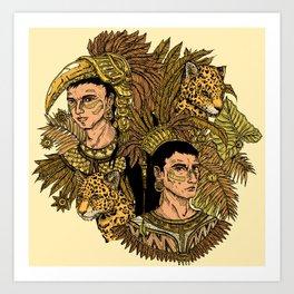 Jaguars Art Print