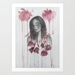 The Sharpest Rose Art Print