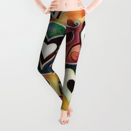 Funky Hearts Leggings