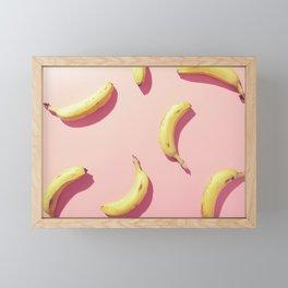 #01_banana on pink Framed Mini Art Print