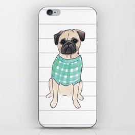 Pug Life - Watercolor Pup iPhone Skin