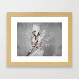 paper knight 2 Framed Art Print