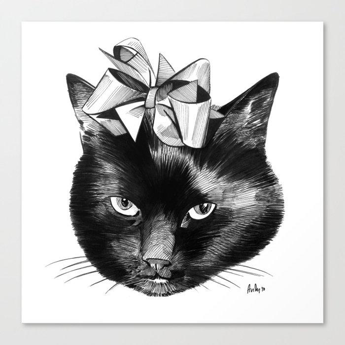 Cat Lady Canvas Print