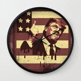 TRUMP NEW WORLD ORDER Wall Clock