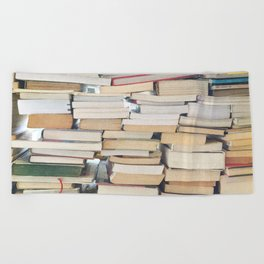 Books, Pages, Stories Beach Towel