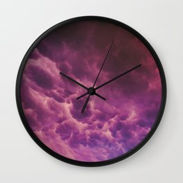 Stormy Saturation Wall Clock