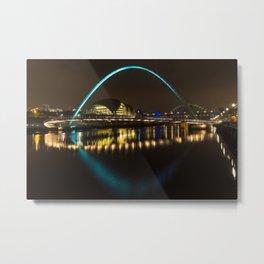 Newcastle at night Metal Print