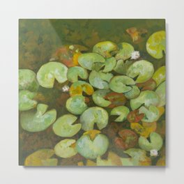 Lotus Pond Serenity Series IV Metal Print
